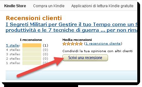 Come lasciare una recensione del libro su Amazon