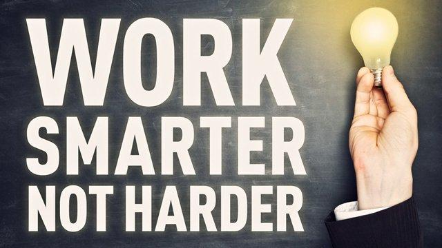 lavora meglio non di più