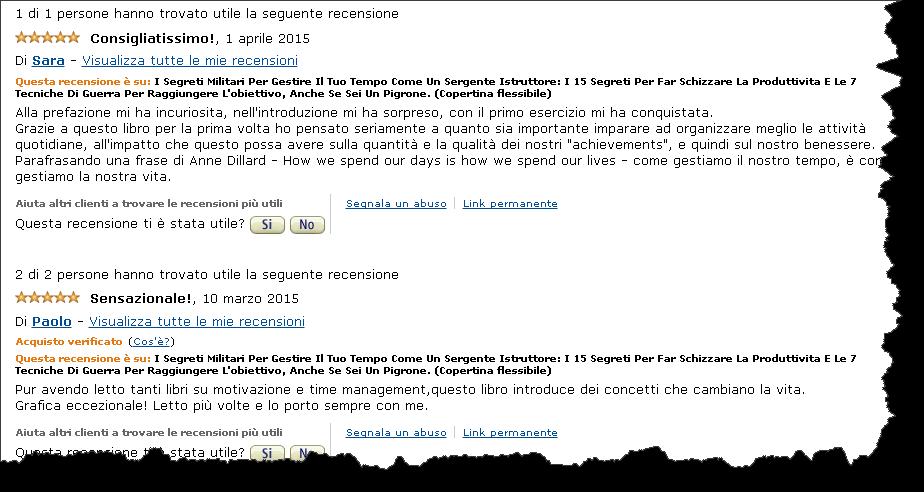 scrivere recensioni di qualità su amazon