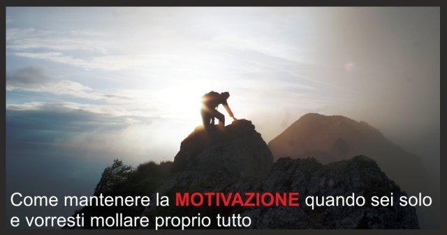 Come mantenere la motivazione